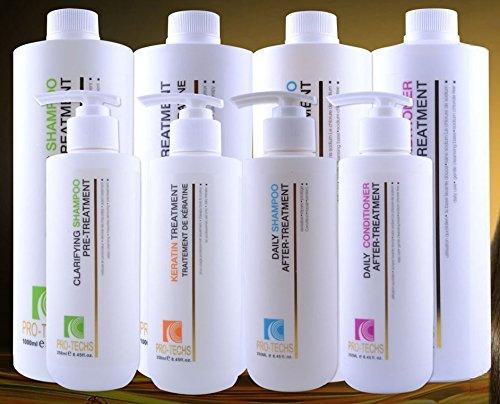 GEMS STYLE PRO-TECHS Brazilian Keratin Treatment Formaldehyde Free Plus Clarifying Shampoo, 1L
