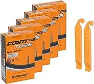 Continental Bicycle Tubes Race 28 700x20-25 S42 Presta Valve 42mm Bike Tube Super Value Bundle (Pack of 5 Cont
