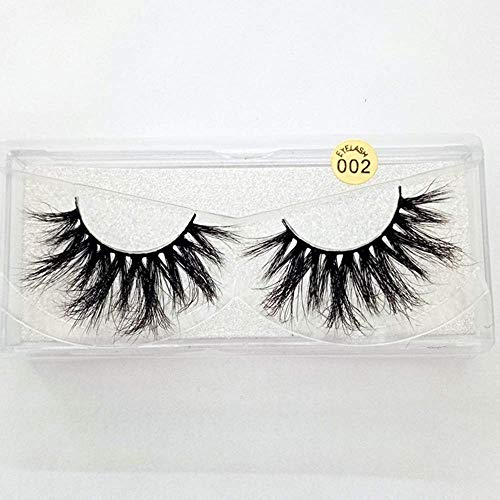 25mm Lashes 3D Mink Hair False Eyelashes Multilayers Dramatic Wispy Fluffy Eyelashes Extension Handmade Reusable Eye Lashes (002)