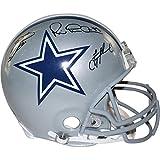 NFL Dallas Cowboys Troy Aikman/Michael Irvin/Emmitt Smith Triple Signed Proline Helmet