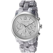 Michael Kors Women's Audrina Acetate and Silver-Tone Watch MK6310