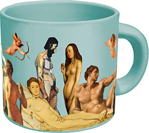 Great Nudes Heat Changing Coffee Mug - Add Hot Liquid and Watch the Figures Change From Prudes to Nudes - Comes in a Fun Gift -