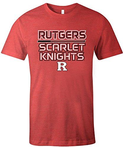 NCAA Rutgers Scarlet Knights Adult NCAA Reverse Short sleeve Triblend T-Shirt,XL,Red