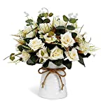 YILIYAJIA-Artificial-Rose-Bouquets-with-Ceramics-Vase-Fake-Silk-Rose-Flowers-Decoration-for-Table-Home-Office-Wedding