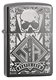Zippo Black Ice Sons of Anarchy Reaper Crew Skull Black Ice Pocket Lighter