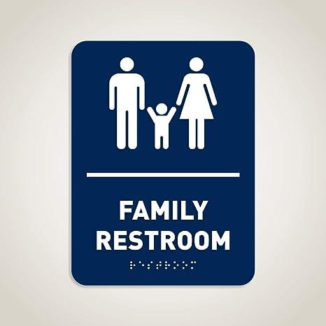 Swell Amazon Com Family Restroom Identification Sign Ada Download Free Architecture Designs Xaembritishbridgeorg