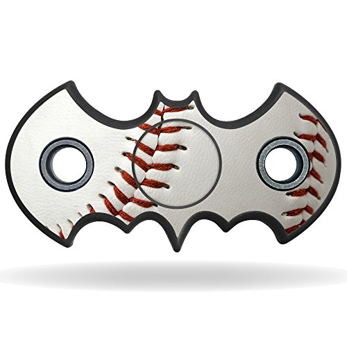 MightySkins Vinyl Decal Skin For Bat Shaped Fidget Spinner – Baseball | Protective Sticker Wrap For Your Fidget toy | Easy To Apply Cover at Gotham City Store