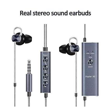 Amazon com: Earbuds Real Stereo Sound DSP Chip, Wired Mini