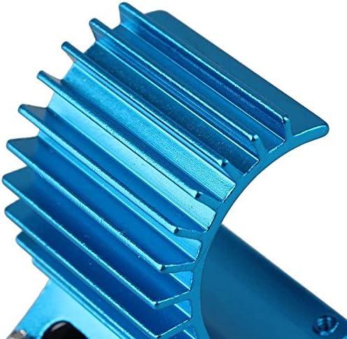DaysAgo 380 Moteurs Radiateur avec Ventilateur pour Radiateur de Moteur de Voiture RC 1:16 Bleu
