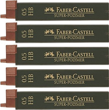 Faber-Castell Pencil Fine Lead Super Polymer, 5x, 0.5HB, 1 Faber Castell 120311 5