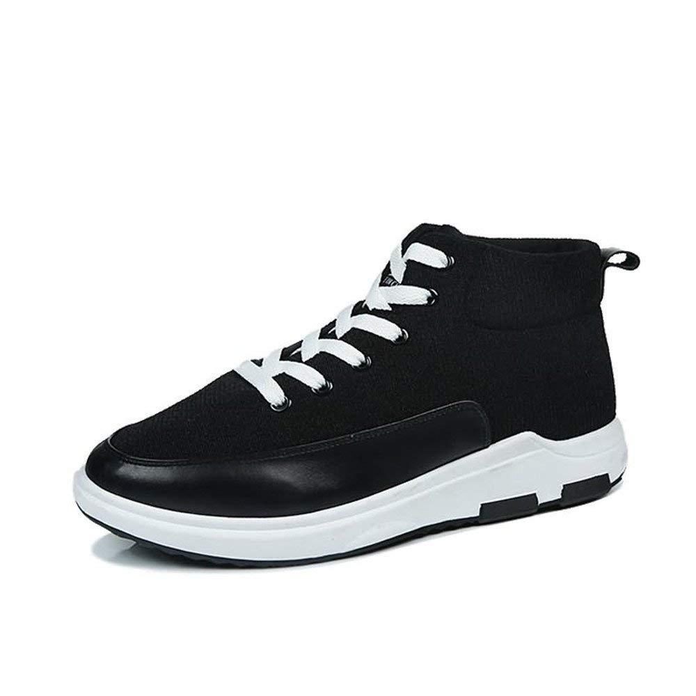 HhGold 2018 Athletische Turnschuhe der Männer beiläufige Art Hohe Obere Segeltuch, Zum der Trend-Sport-Schuhe zu Erhöhen (Farbe   Schwarz, Größe   42 EU) (Farbe   Schwarz, Größe   40 EU)