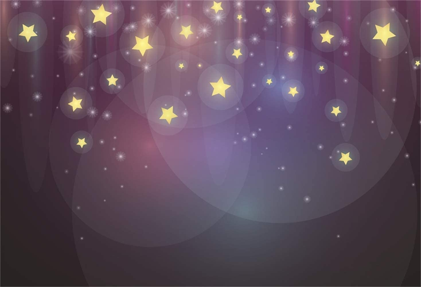 10x6.5ft Dreamy Starry Nightsky Bokeh Haloes Polyester Photography Background Child Kids Baby Portrait Shoot Backdrop Birthdat Party Banner Sweet Dream Wallpaper Studio Props
