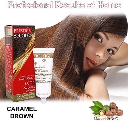 Vips Prestige - BeColor Tinte Semi Permanente Color Castaño Caramelizado BC04, Sin Amoniaco Sin Peroxide