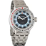Vostok Amphibian Automatic Mens WristWatch Self-winding Military Diver Amphibia Case Wrist Watch #420927 (steel 1)