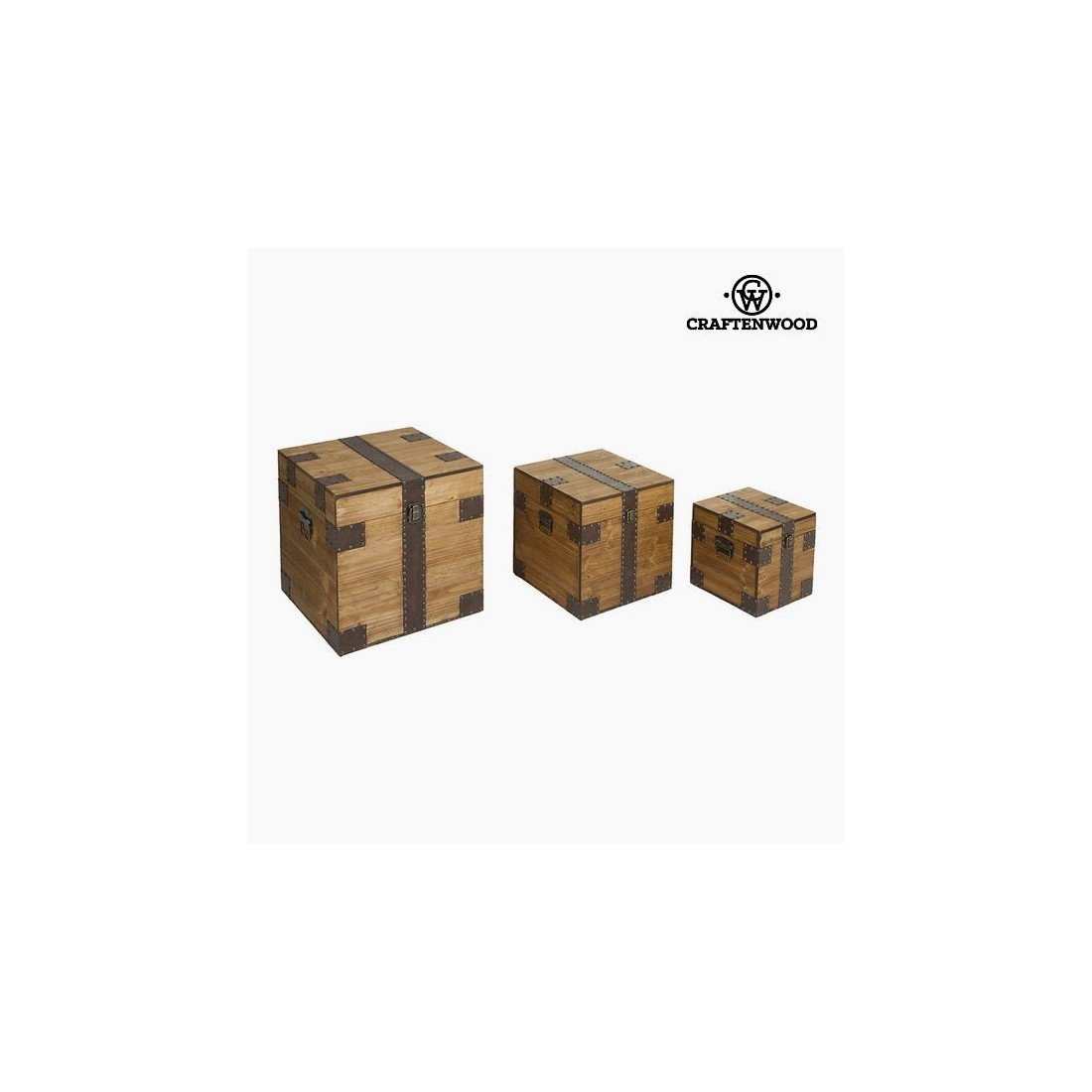 Lot de paniers (3 pcs) Mdf (40 x 40 x 40 cm) by Craftenwood