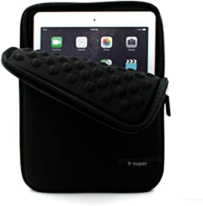 "X-super Compatible IPad Mini 2/3/4 7.9"" Tablet Sleeve Case Replacement for Shockproof Neoprene Protective Storage Carrying Bag (Black)"