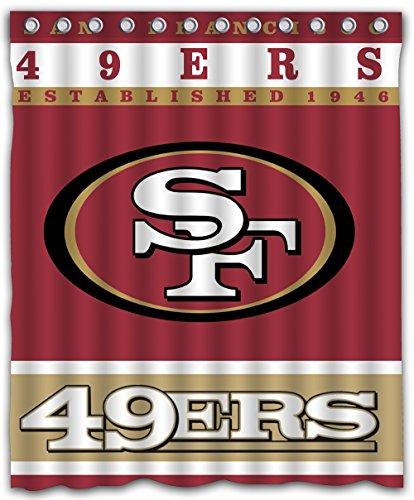 (Sonaby Custom San Francisco 49ERS Waterproof Fabric Shower Curtain For Bathroom Decoration (60x72 Inches))