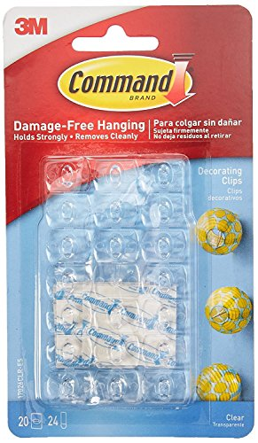 Command 17026CLR-ES Decorating Clips, Clear, 20-Clips (2 Pack)