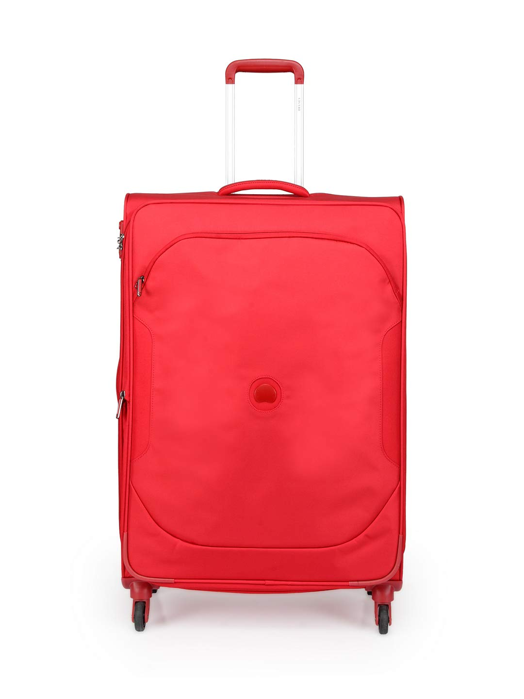 Delsey Polyester 79 Cms Red Softsided Check-In Luggage