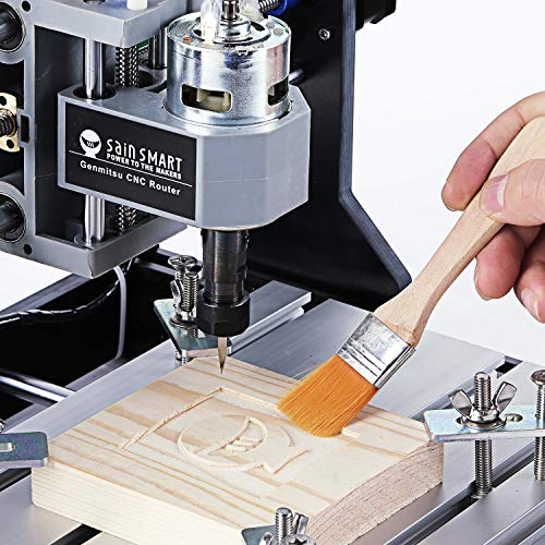 Genmitsu CNC 3018-PRO Router Kit GRBL Control 3 Axis Plastic Acrylic PCB PVC Wood Carving Milling Engraving Machine, XYZ Working Area 300x180x45mm by Genmitsu (Image #1)