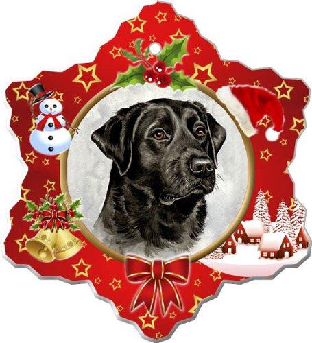 (Labrador Retriever Porcelain Holiday Ornament)