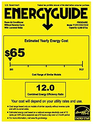 Frigidaire Energy Star 8,000 BTU 115V Cool Connect Smart Window Air Conditioner with Wi-Fi Control, White,