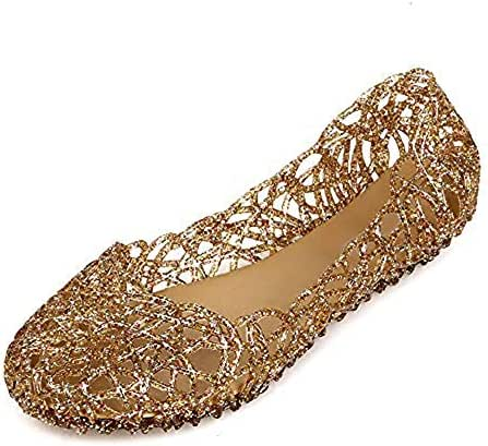 Domucos Womens Sandals Flat Jelly Shoes Slip On Hollow Out Loafers