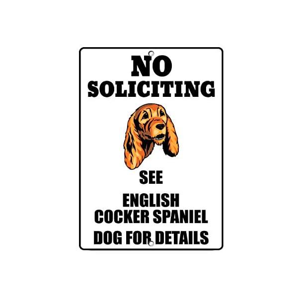 Fastasticdeals English Cocker Spaniel Dog No Soliciting See Novelty Metal Sign 1