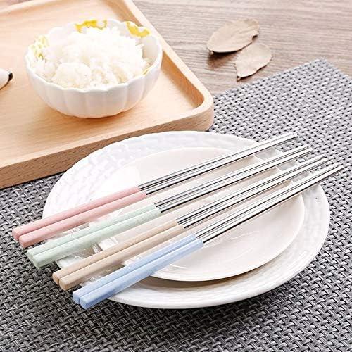 Triamisu Bacchette da Cucina in Acciaio Inossidabile Antiscivolo per stoviglie da Cucina in Stile Cinese 19 cm Tradizionale-Rosa