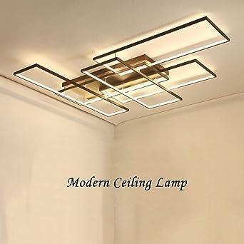 Lámpara de techo de diseño moderno con luz LED en forma de ...