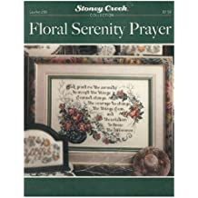 Floral Serenity Prayer Cross Stitch Chart and Free Embellishment