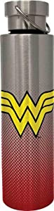 Spoontiques Wonder Woman Stainless Steel Bottle, 24 oz, Red