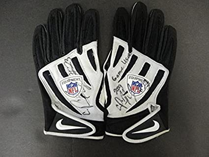 a7cd5459fc5 Image Unavailable. Image not available for. Color  Pierre Thomas Signed  Game Used Official NFL Nike Gloves Auto ...