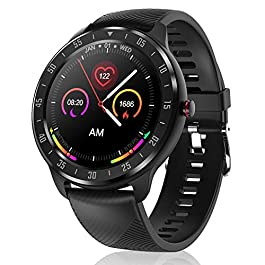 CanMixs Smart Watch for Android iOS Phones, 1.3″ Touch Screen Bluetooth Fitness Tracker Watches for Men Women, IP67 Waterproof Activity Tracker with Heart Rate Monitor Sleep Compatible Samsung iPhone