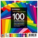 100 Sheets Single and Double Sided Origami Pap