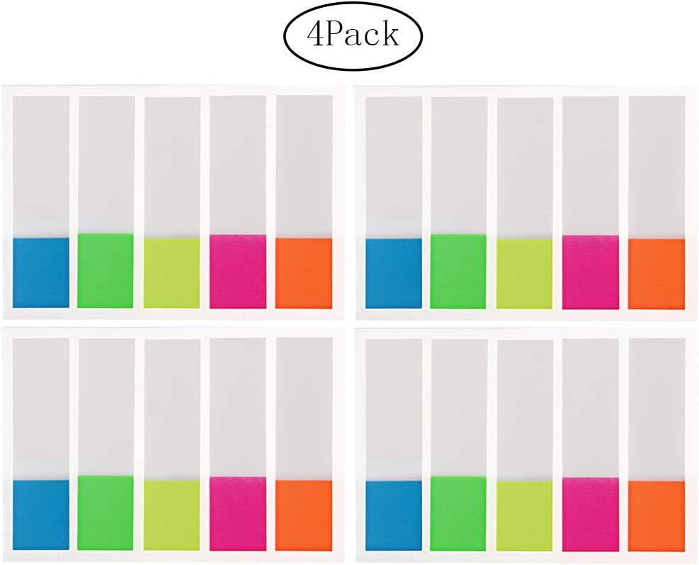 400 Pieces Page Markers, Pengxiaomei Sticky Note Tabs, Neon Colors Adhesive Page Index Tabs Flags : Office Products