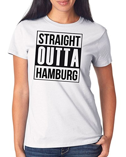 Straight Outta Hamburg T-Shirt Girls White