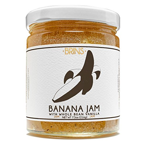 Banana Jam with Whole Bean Vanilla, 7.5oz Jar by BRINS