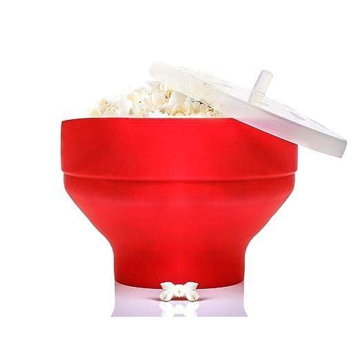 Popper de microondas para palomitas de maíz, silicona plegable ...