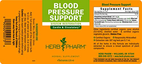 Herb Pharm Blood Pressure Support Liquid Formula for the Cardiovascular and  Circulatory Systems - 1 Ounce