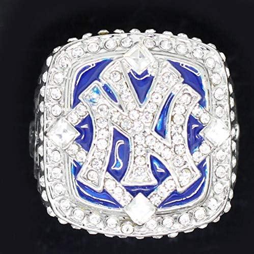 金属アレルギー対応 高級 華奢 MLB NYY 指輪 ニューヨーク・ヤンキース チャンピオン リング 記念品 ジルコニア 22号/22.5号/23号 アクセサリー プレゼント ギフト 誕生日 記念日 新品 (ステンレス鋼, 23号)