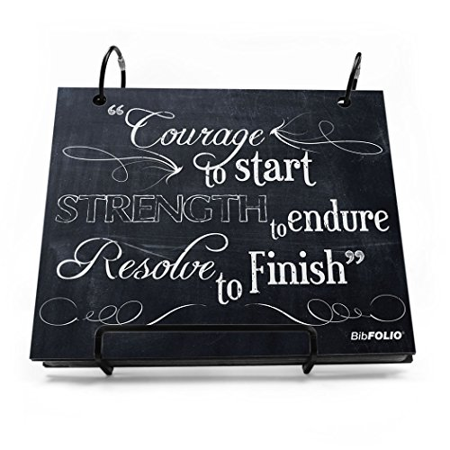 Gone For a Run BibFOLIO Race Bib Album - Chalkboard Courage To Start