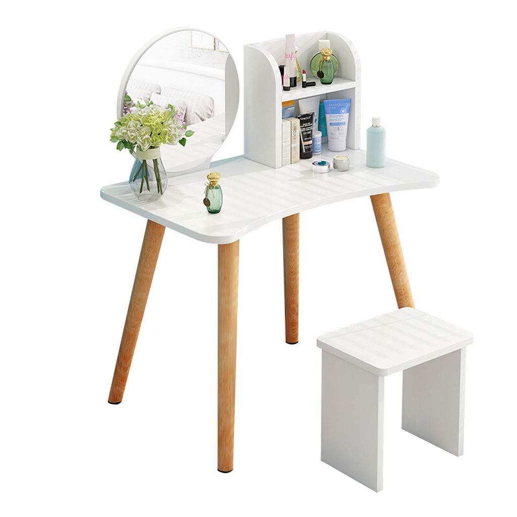 Xilinshop Schminktisch Moderner minimalistischer Schminktisch Kosmetikspiegel Schminktisch Schminktisch Hocker Kleines Schlafzimmer
