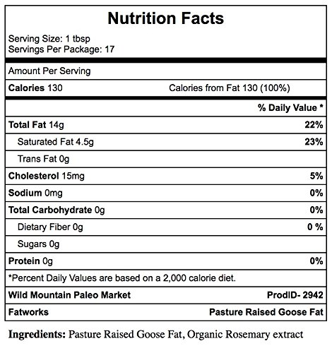 Fatworks, Traditional Goose Fat, Pasture Raised on US Family Farm, USDA, 7.5 oz. by Fatworks (Image #2)
