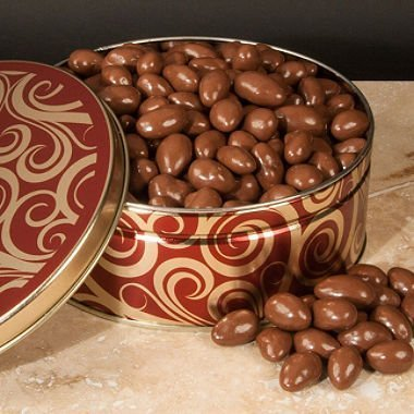 Chocolate Covered Almonds Gift Diamond Tin - 40 Oz. by A L Schutzman