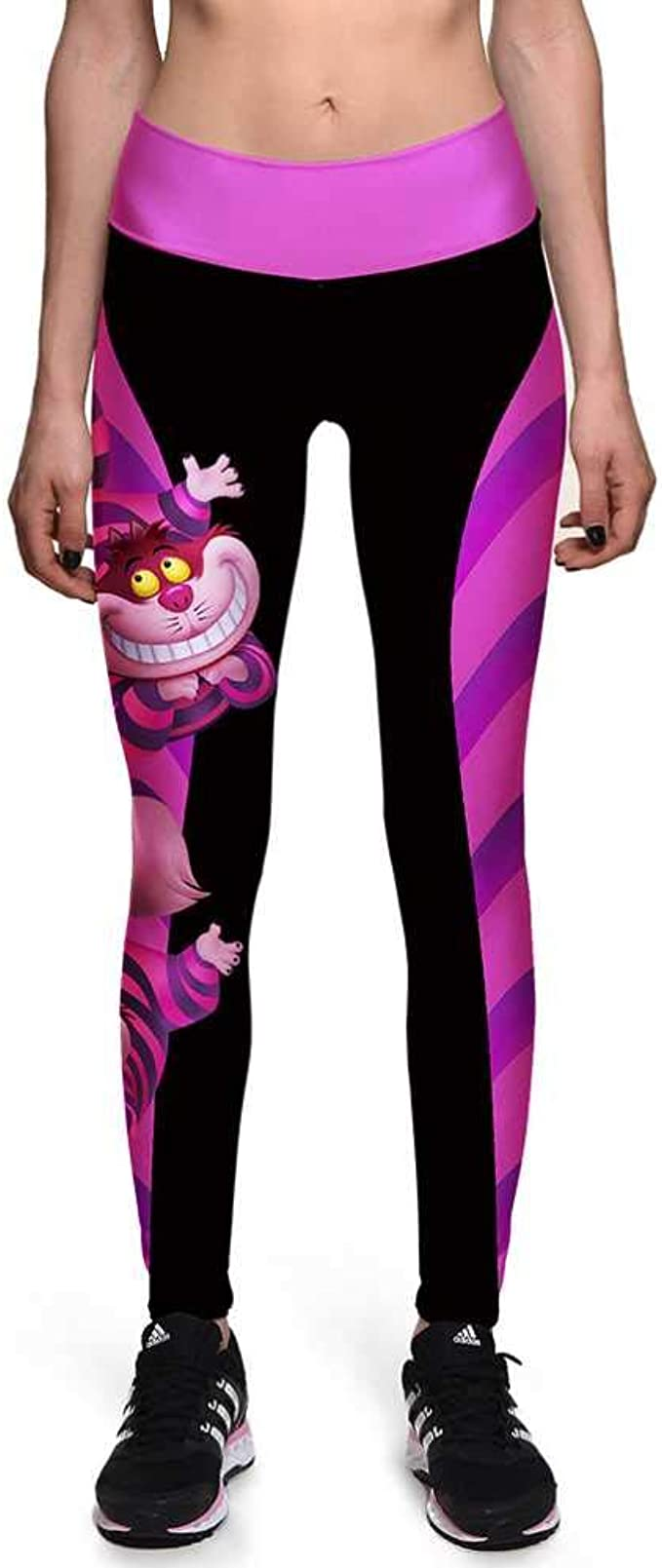 YSHJF Otoño Invierno Leggings Mujeres Sonrisa Gato Dibujos Animados Impreso Mujeres Leggings Cintura Alta Leggins Fitness Workout Yoga Pantalones: Amazon.es: Ropa y accesorios