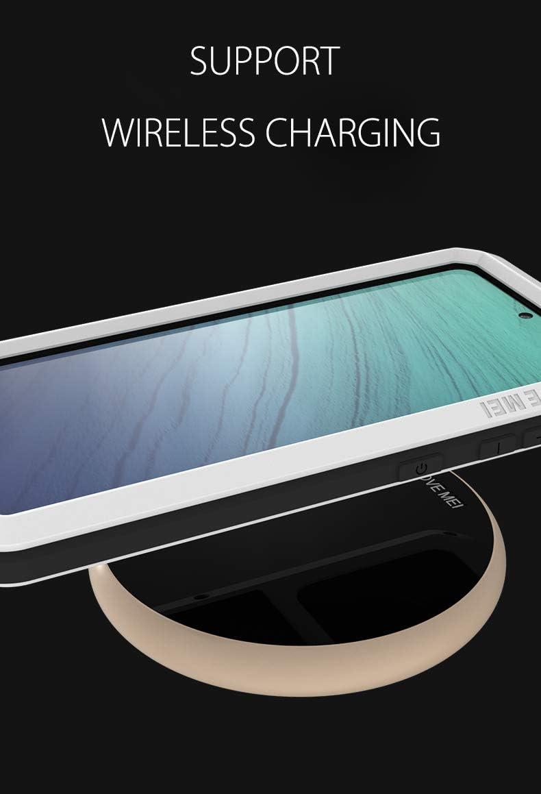 FONREST Completo Funda para Samsung Galaxy S20 Ultra 5G 6,9-Pulgada Love Mei Antichoque Al Aire Libre H/íbrido Aluminio Metal Antipolvo Carcasas con Vidrio Templado Negro Apoya de Carga inal/ámbrica