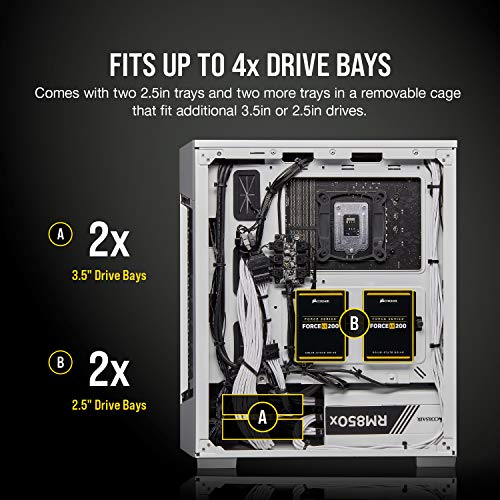 Corsair iCUE 220T RGB Airflow, Smart Case Gaming Mid-Tower ATX con Paratia in Vetro Temprato, Bianco