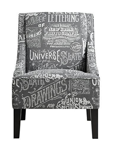 Pulaski Upholstered Arm Chair in Chalkboard Shadow, Medium, Multicolor