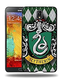 Case88 Designs Harry Potter & Hogwarts Collections Hogwarts Slytherin Sigil Protective Snap-on Hard Back Case Cover for Samsung Galaxy Note 3